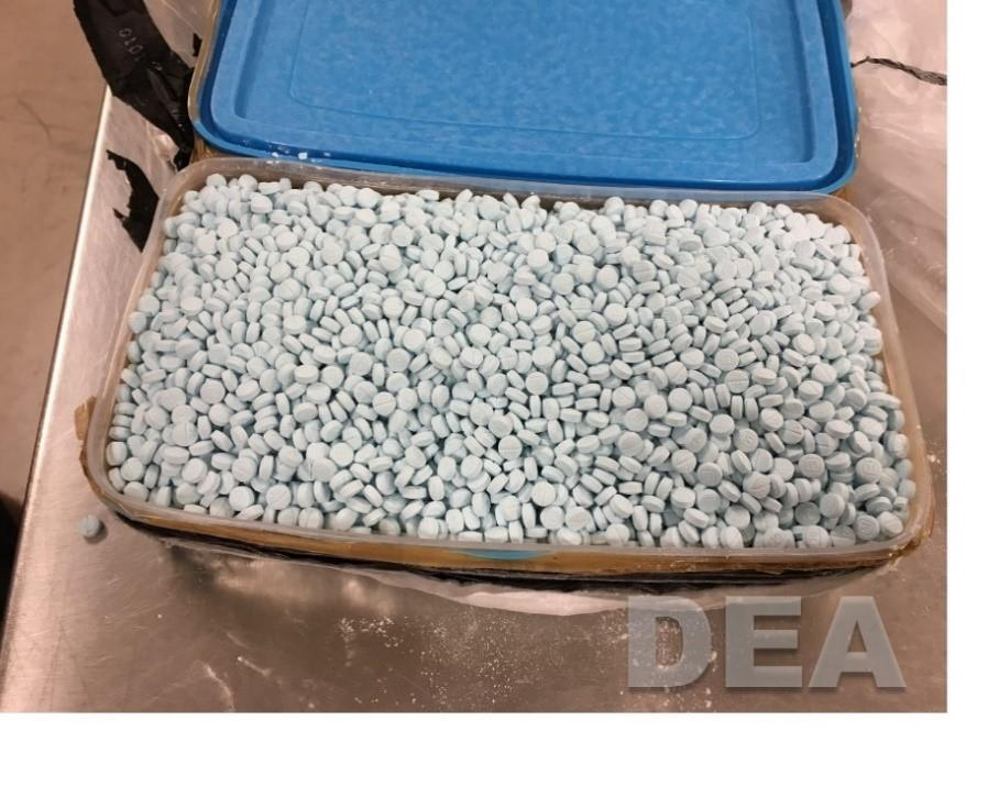 Example of conterfeit pills seized by DEA